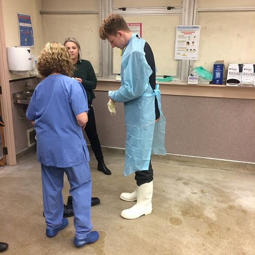 Mortuary visit at Dunedin Hospital