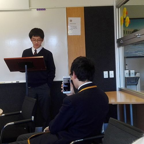IB student Chia-Fu Hsu (Taiwan) speaks about the repercussions of the recent North Korean nuclear test for his Advanced speech exam.
