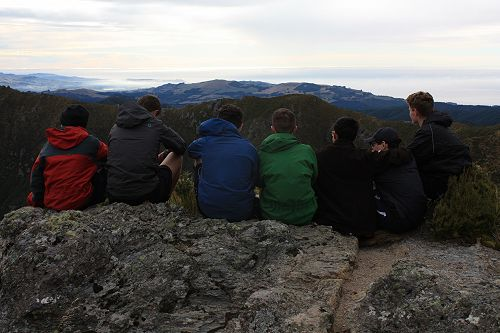 Year 11 group taking in the view from the highest