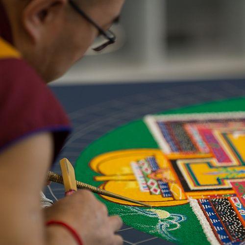 Wisdom and Compassion in Vivid Colour: The Creation of the Majushri Sand Mandala by Tibetan Monks