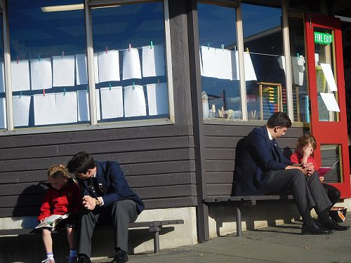 Buddy Reading at Mornington School