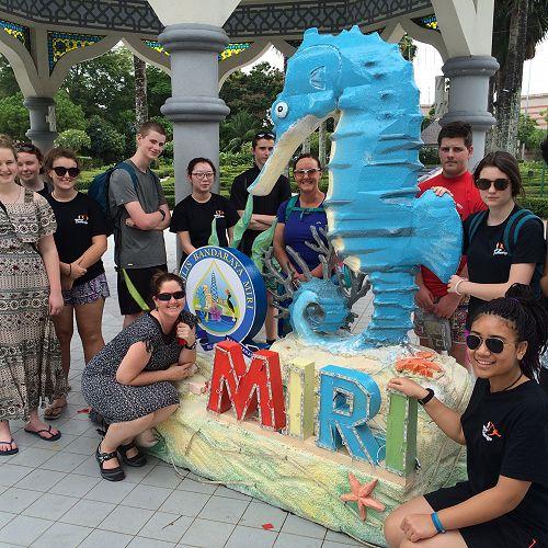 The group at Miri.