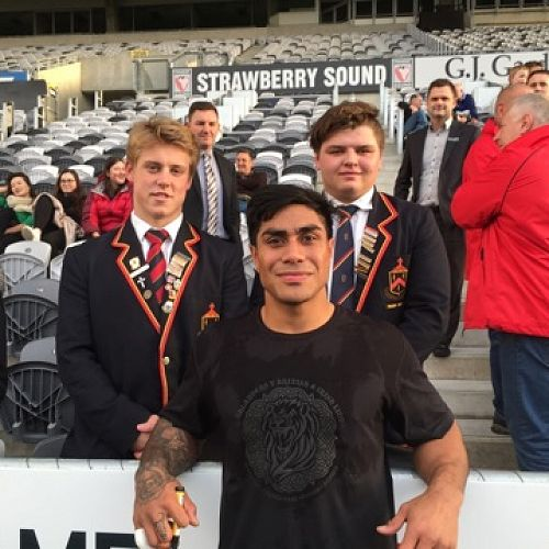 Henry and Reon with Malakai Fekitoa