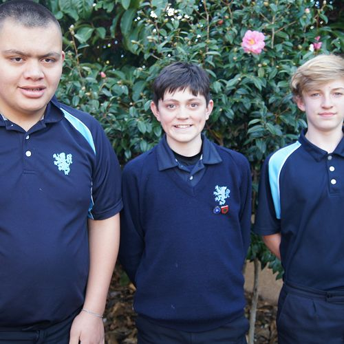 From left; Ethan Rangitutia, Caleb Simpson & Jerome Wolken