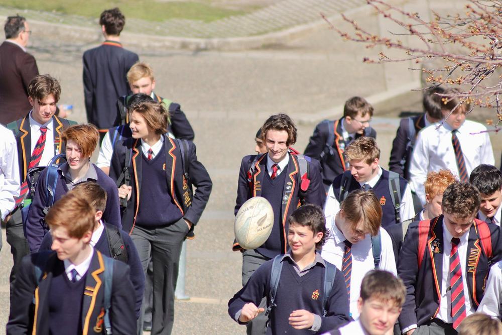 Happy boys on a sunny Dunedin day
