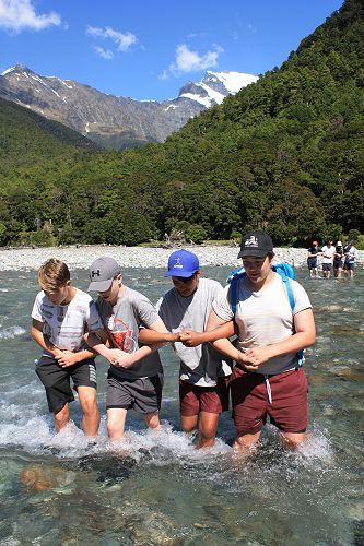 Finn, James, Joseph and Mihai crossing the East Ma