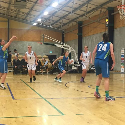 NZSS National Basketball Tournament 2019 - Ruby Roberts takes free throw as Ella Beirne #5 and Tyra Jamieson #24 prepare to rebound.