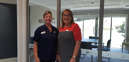 Madeleine Esdaile, Clinical Manager at Aspiring Enliven, where the Kowhai Programme will be hosted, with Kowhai Programme Coordinator Denise van Aalst.