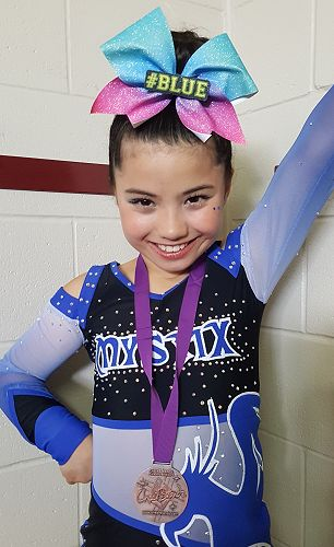 Lila after the competition