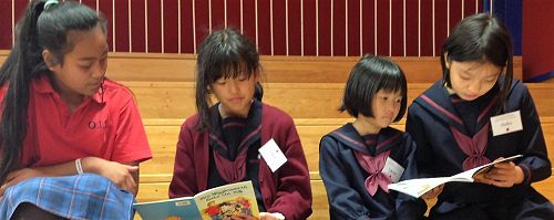 The students enjoyed reading stories about New Zea