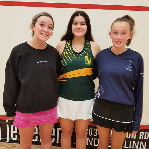 Division 1 Individual Place Getters, 1st Katie Templeton A2 KatiKati College, 2nd Emma Merson B1 Mount College, 3rd Ella Hill Tauranga Girls' College