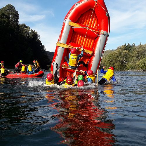 Year 13 OED students Rafting on the Buller River, Murchison