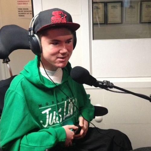 Joe Ward at the radio station