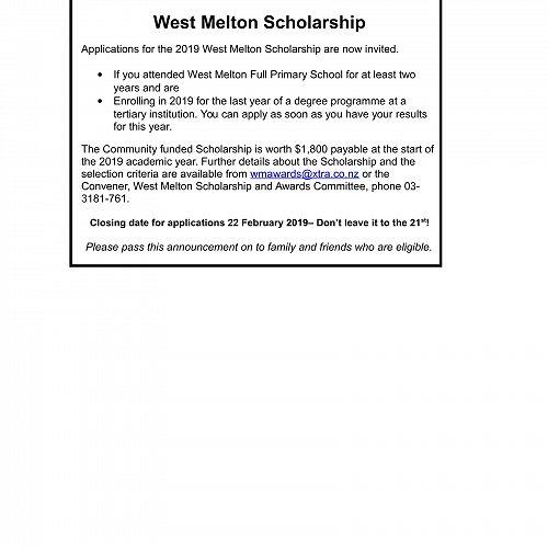 WM Scholarship 2019