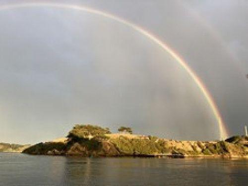 Marine Science under a rainbow.