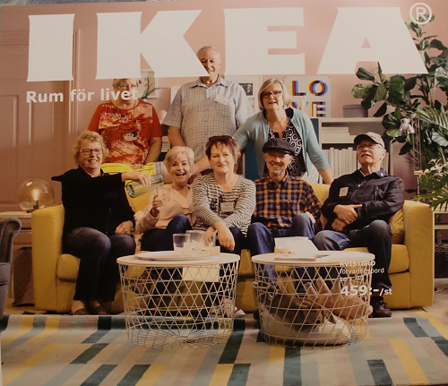 On the cover of the IKEA magazine