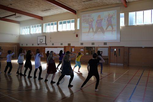 Year 13 PE dance class