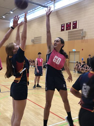All smiles as Rosie Auchinvole attempts to land the shot