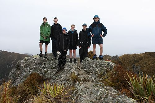 Group 2 in the clouds at the highest point in the