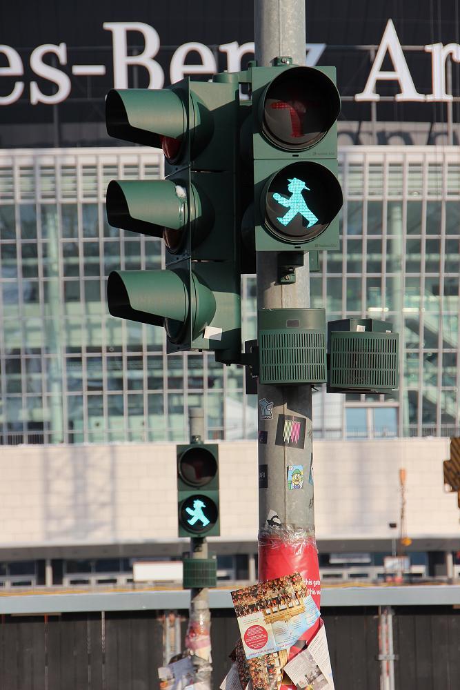 Eastern German traffic lights.