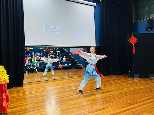 Rebekah Sime performing Taichi Fan