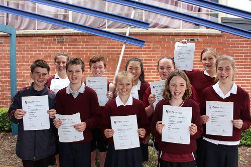 Year 8 ICAS Winners