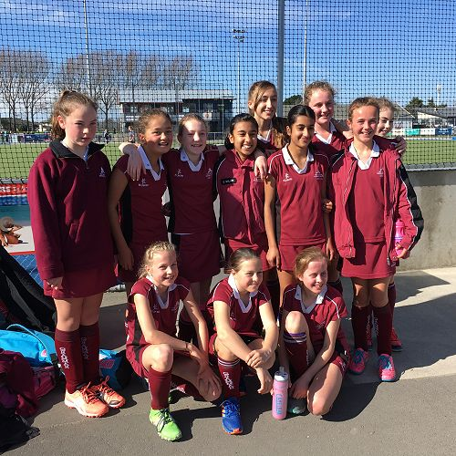 Happy faces from the Girls' 1st XI Hockey team
