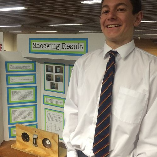 Hamish Robinson at the Otago Science Fair