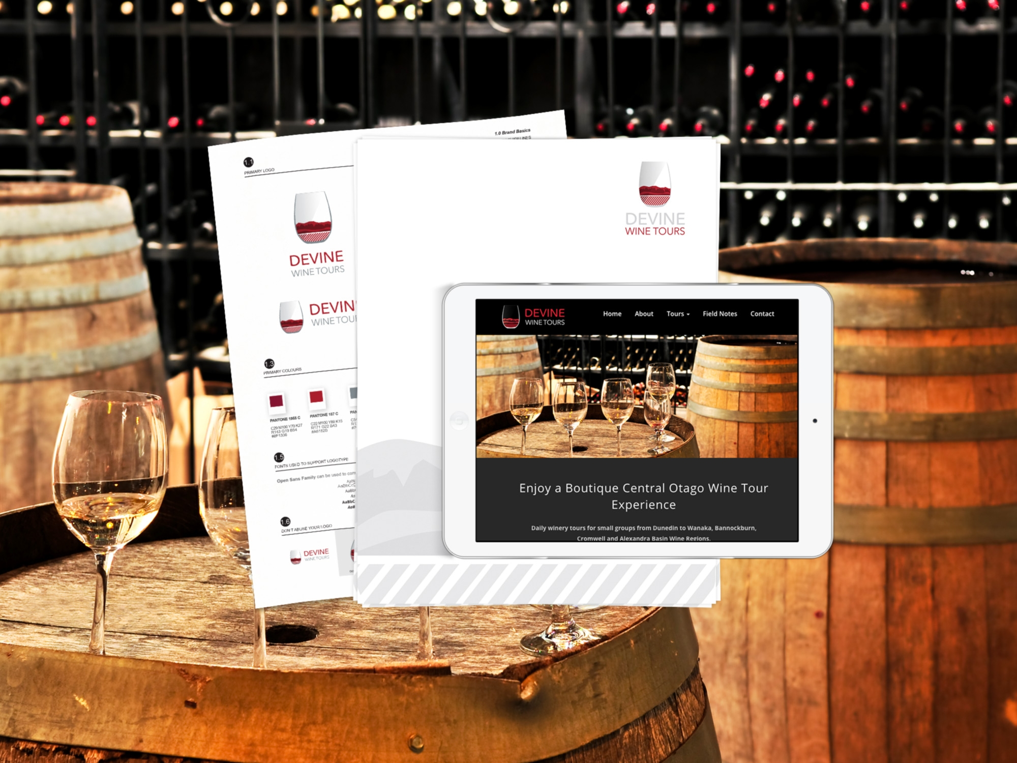 Full Service Brand and Web Project for Devine Wine Tours