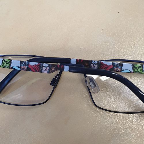 Glasses with Superheroes on arms