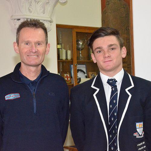Robbie Johnston with Liam Turner