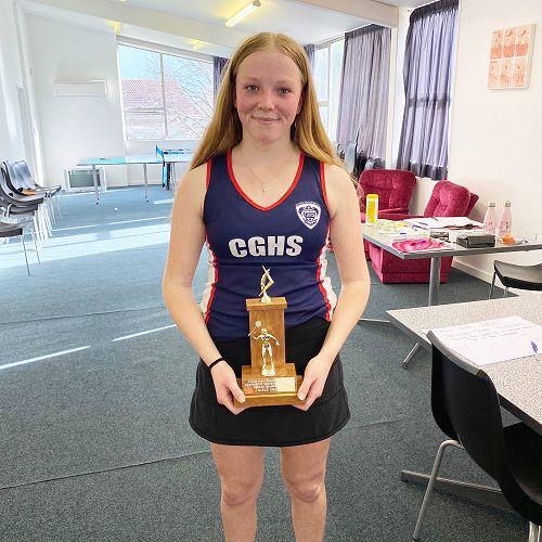 Canterbury Secondary Schools Squash Championships Girls' Event Winner