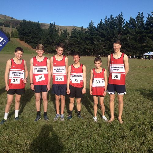 John McGlashan College under 15 Team at the Otago SS Cross Country Championships