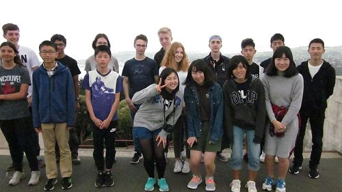 International students trip to Baldwin St