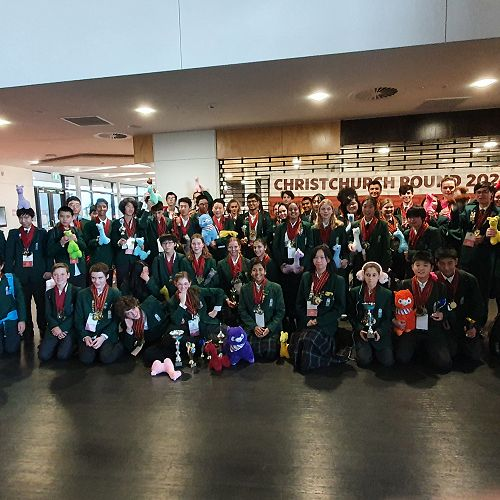The World Scholars Cup team at Avonside Girls High School.