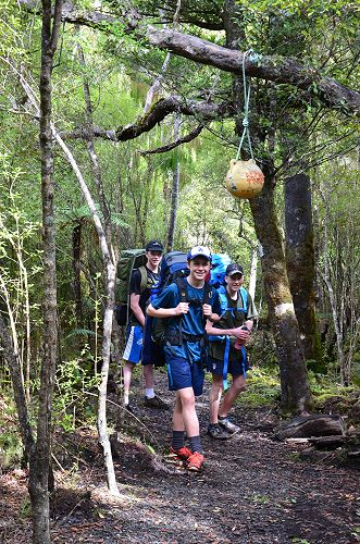Year 11 group at the halfway marker on day 3