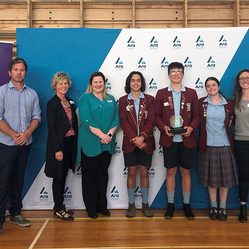 Winners of theSouth Canterbury Regional champions for The Lion Foundation Young Enterprise Scheme