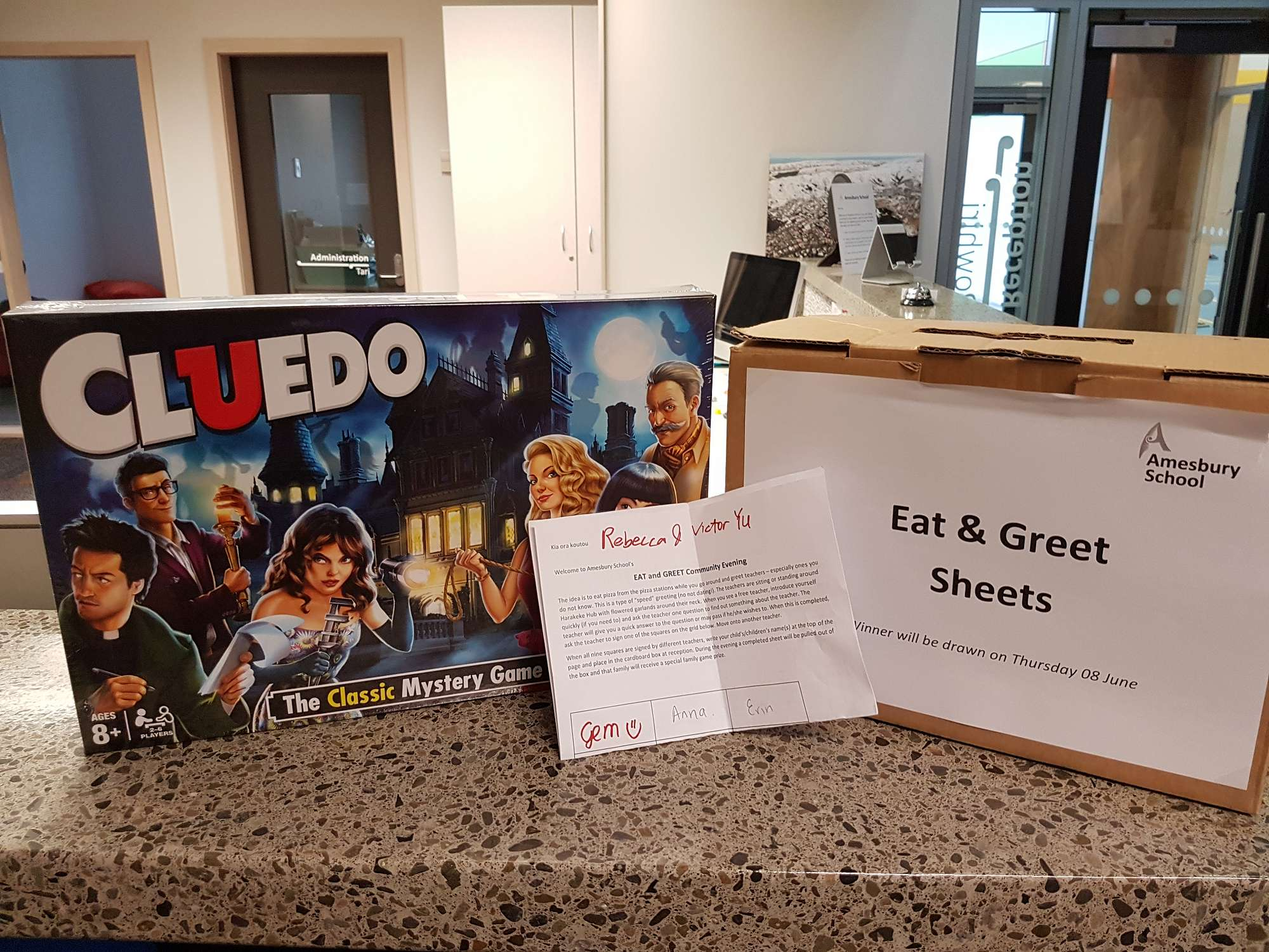 Congratulations to Victor and Rebecca who won our Eat and Greet prize draw!