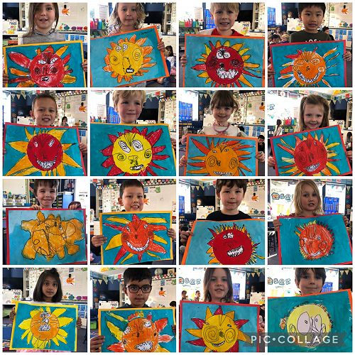 Room 17 and their beautiful art work!