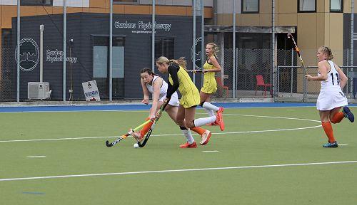 Columba's Grace Darling making a tackle