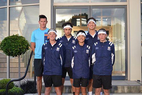 OBHS Tennis Team with Coach Matt McCutcheon