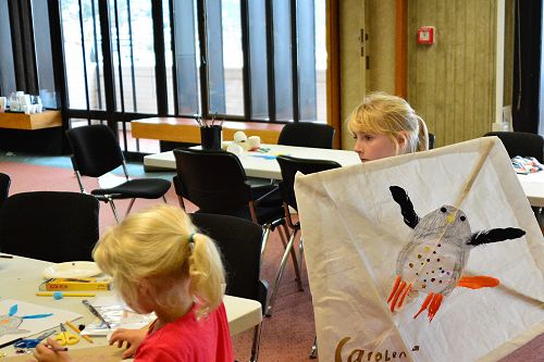 Children at 2016 Flying Penguin Kite Workshop