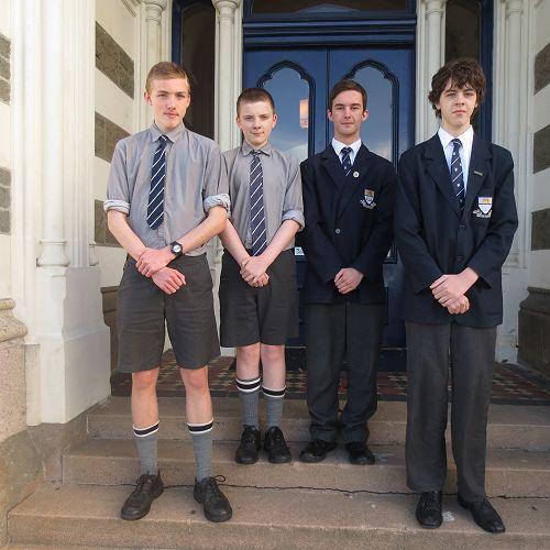 Kelvin Weston, Bailey Cavanagh-Welch, Hayden McAlister and Andrew Medlicott