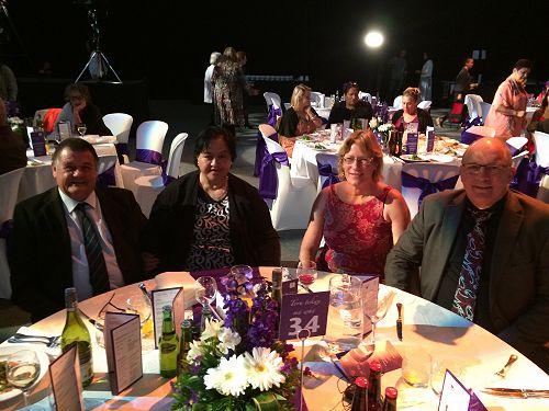 At the Ngā Tohu Reo Māori awards dinner Ahuriri / Napier