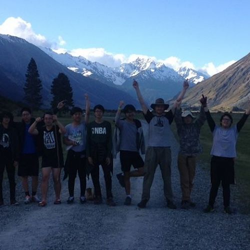 International boys on camp in Ohau.