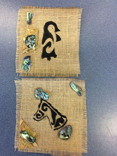 Marae Week 2015 - Finished Maori Design Stencils o