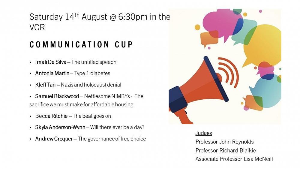 Communication Cup, 14/8/21