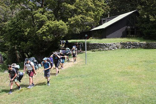 Setting out on the overnight walk