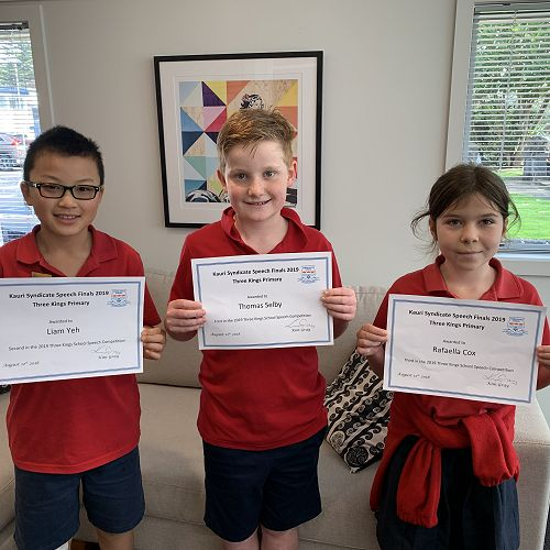 Congratulations to Thomas Selby - first place, Liam Yeh - second place and Raffaella Cox - third place.
