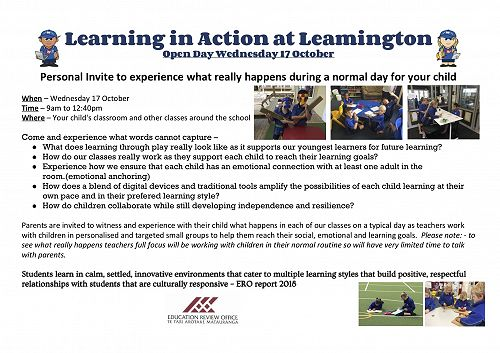 Learning in Action open day